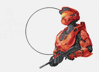 Halo (Inktober Day 7) by LuigiPunch
