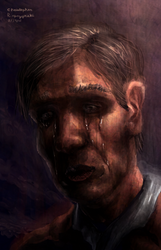 Sad old man (facial practice) by LuigiPunch