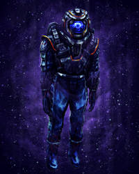 Deep Astronaut (speed practice) by LuigiPunch