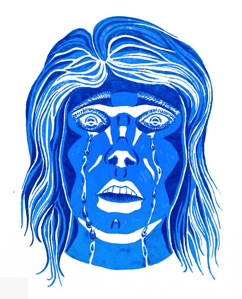 Marker Tears (Inktober) by LuigiPunch