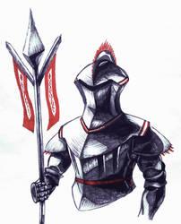 Marker Knight Inktober sketch by LuigiPunch