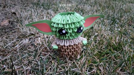 3D Origami Baby Yoda