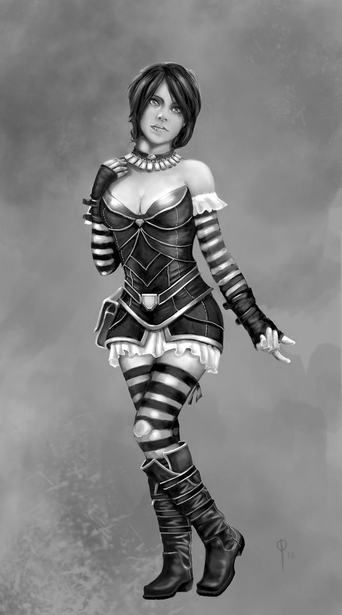Stripe Girl Study by ConceptGuy