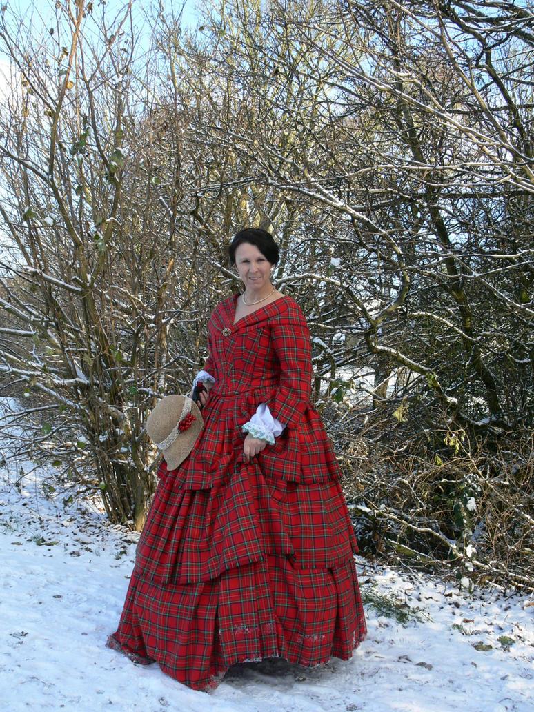 tartan 1850s gown by Abigial709b on DeviantArt