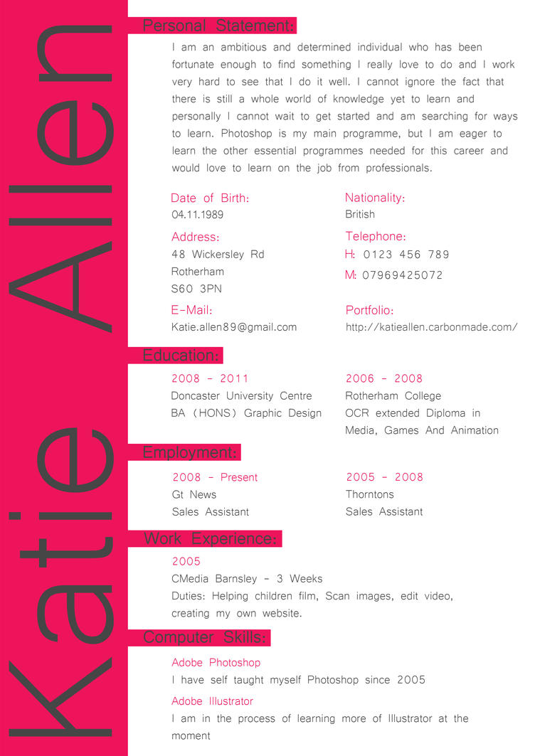 CV by McFit on DeviantArt