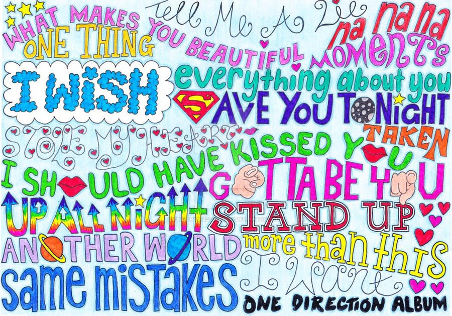 One Direction song titles. by The-Crystizzler1990 on ... One Direction Names In Words