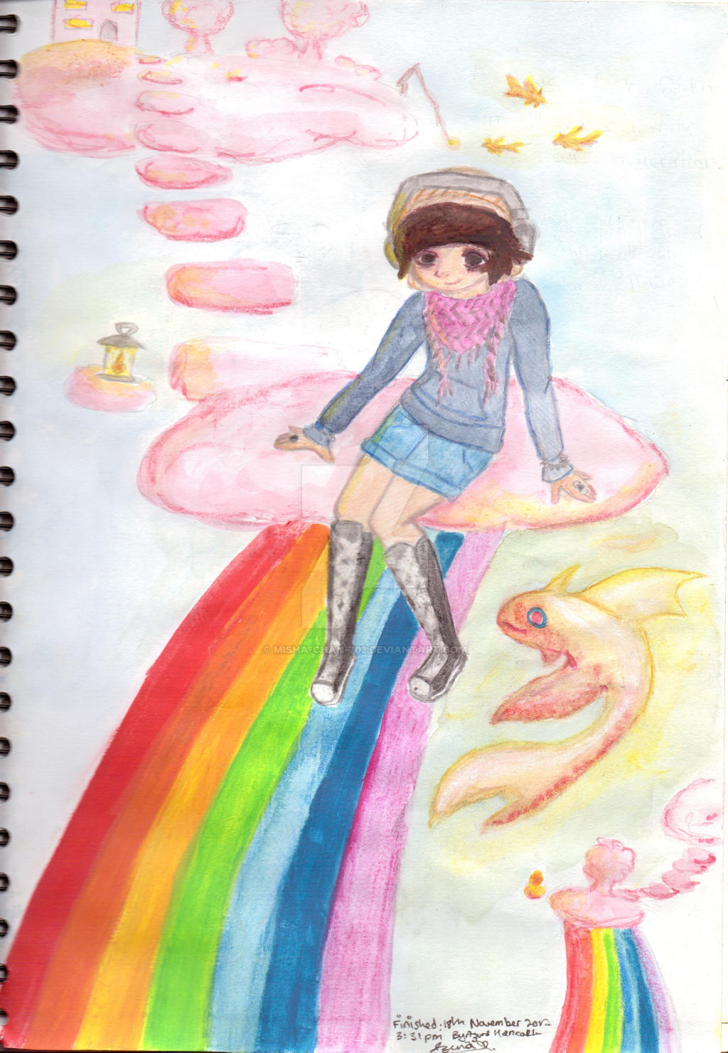 Rainbows, Glowing fish and Cotton Candy Clouds by Misha-chan-703