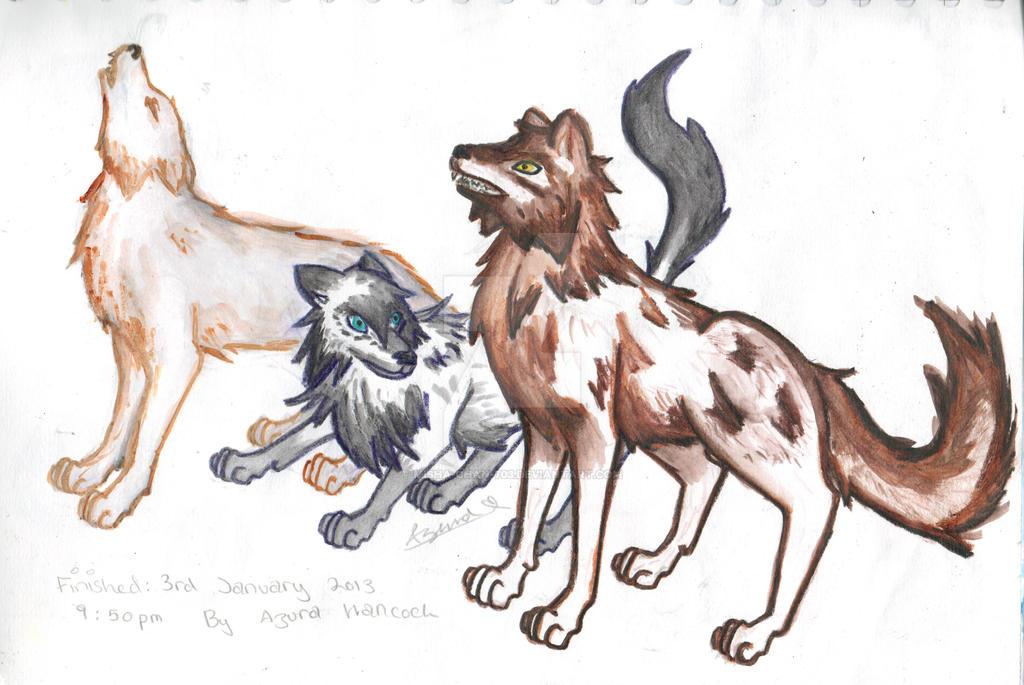 Three Wolves by Misha-chan-703