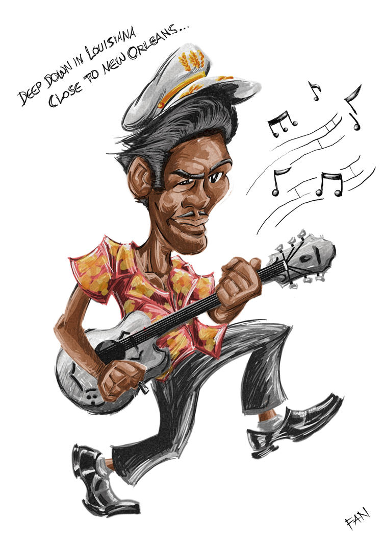 Chuck Berry by adalfan