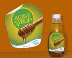 Agave Syrup Bottle Sticker
