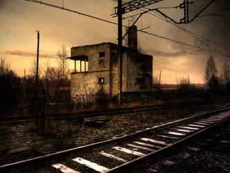 Ruined railway building by devJarema