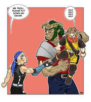 Dwarf and Troll Reunion by nevershop