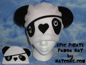 Peirced Pirate Panda Hat Cute by HatcoreHats