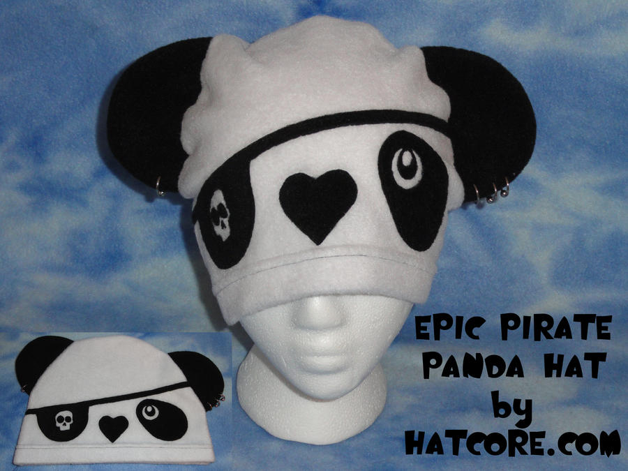 Peirced Pirate Panda Hat Cute by HatcoreHats