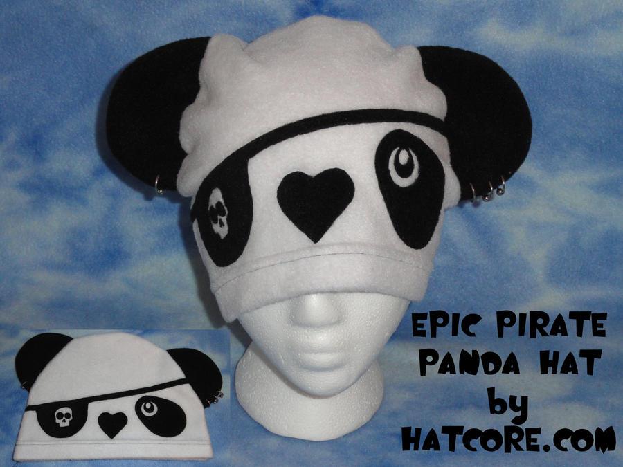 Peirced Pirate Panda Hat Cute