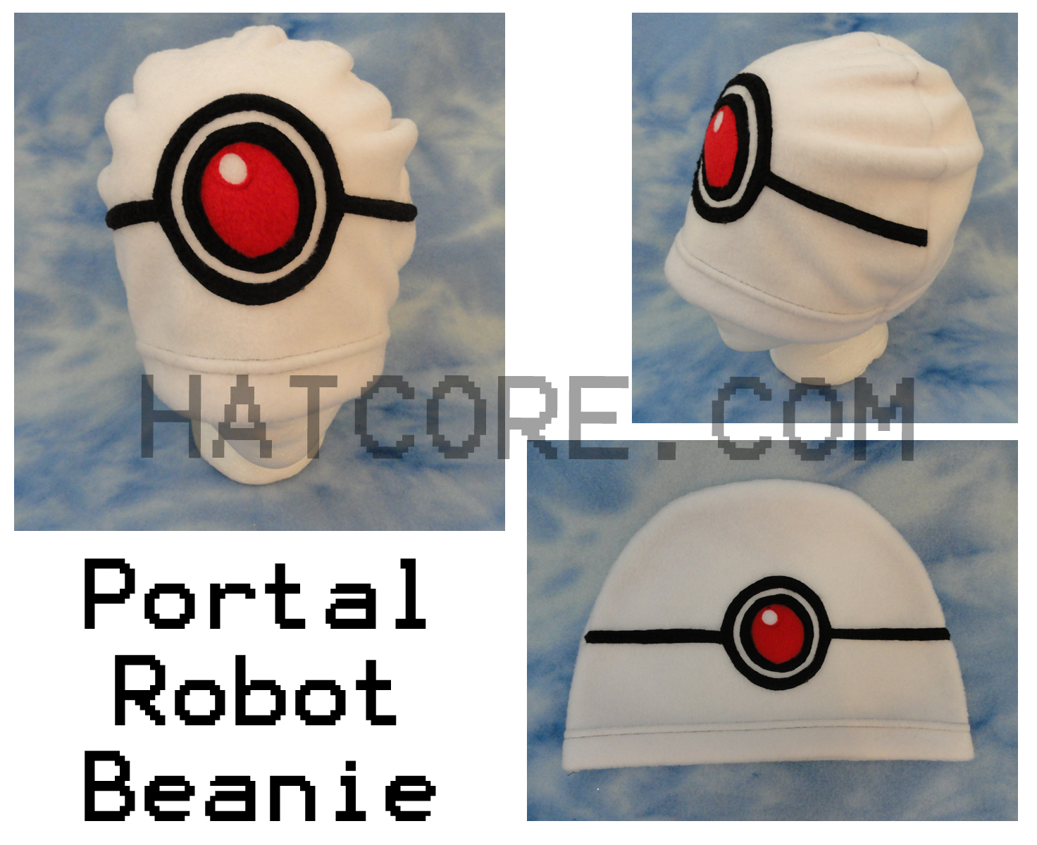 Glados Portal Beanie Hat by HatcoreHats