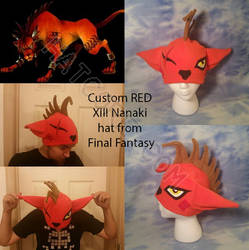 RED XIII Fleece Hat Final Fantasy Nanaki