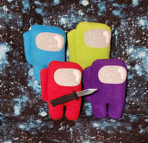 Among Us Plush Imposter Crewmate with Knife