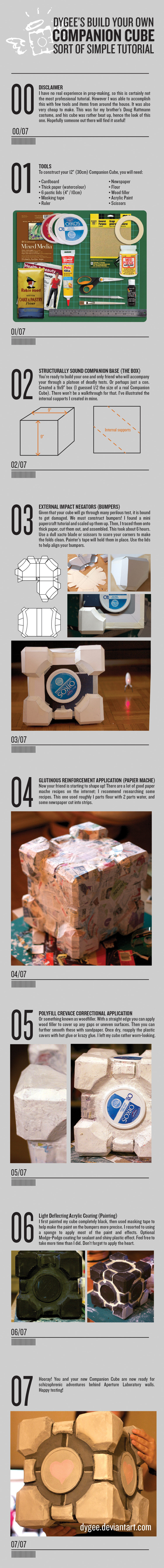 Companion Cube Tutorial by Dygee