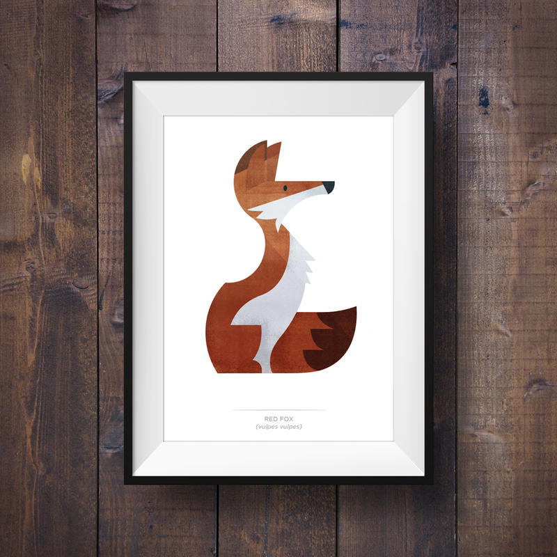 Fox Print - New Esty Shop by Dygee