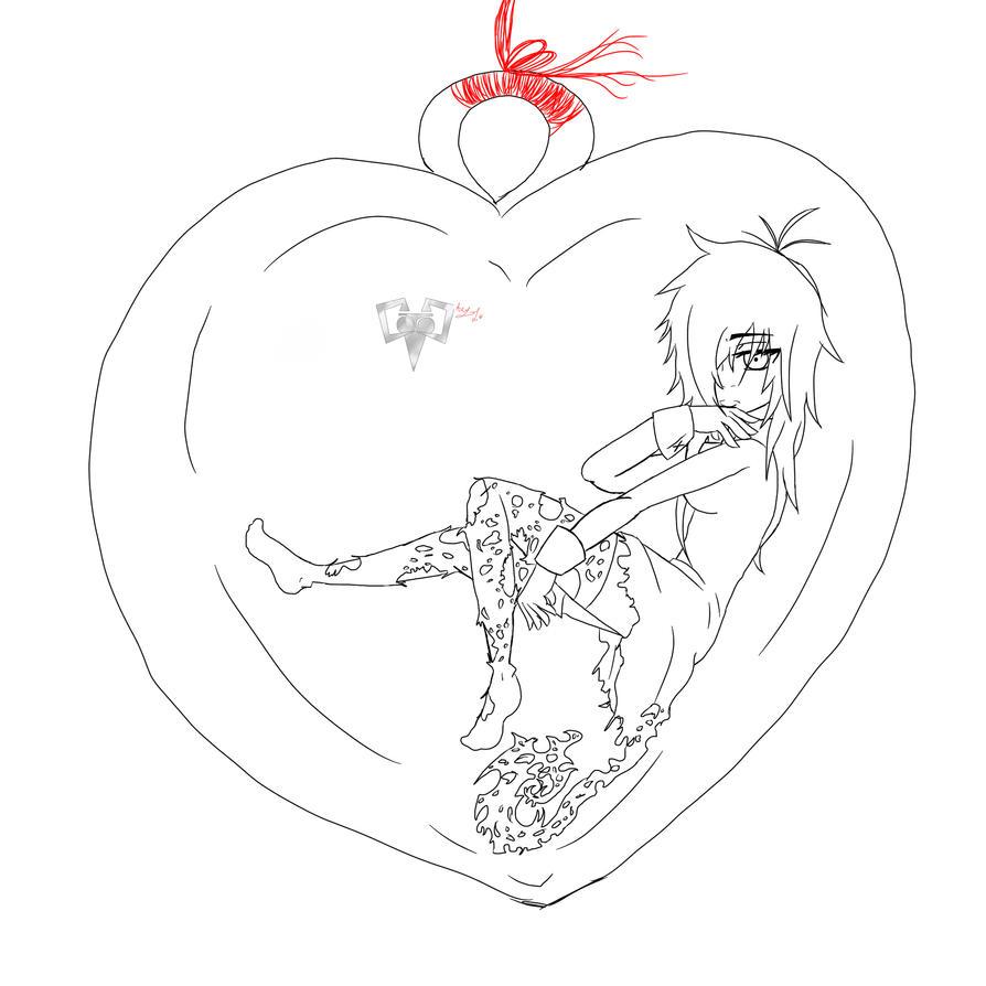 Line Art Love : Alexander s bottled love line art by asklehalloweenkiller