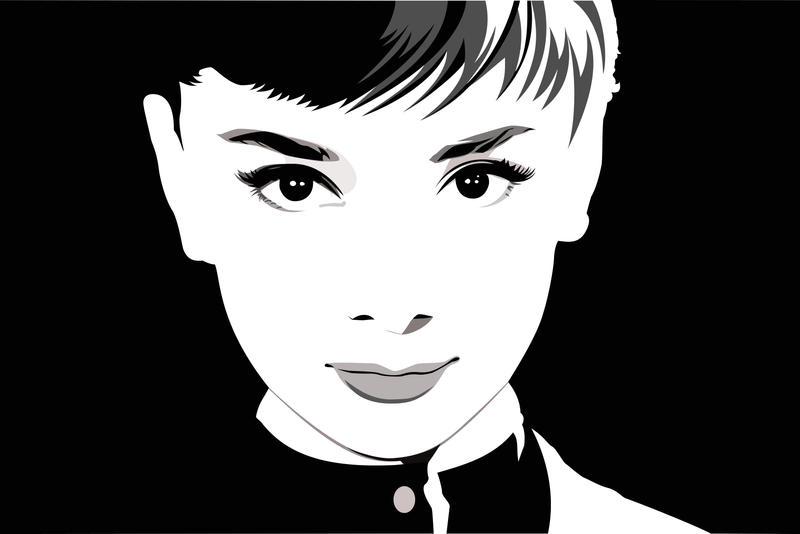 Audrey Hepburn by pin-n-needles
