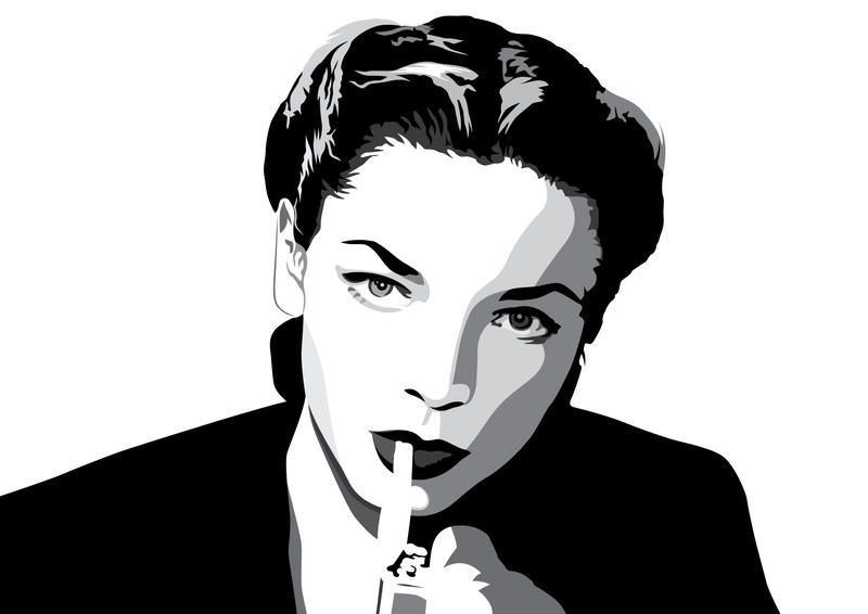 Lauren Bacall by pin-n-needles