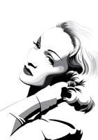Marlene Dietrich by pin-n-needles
