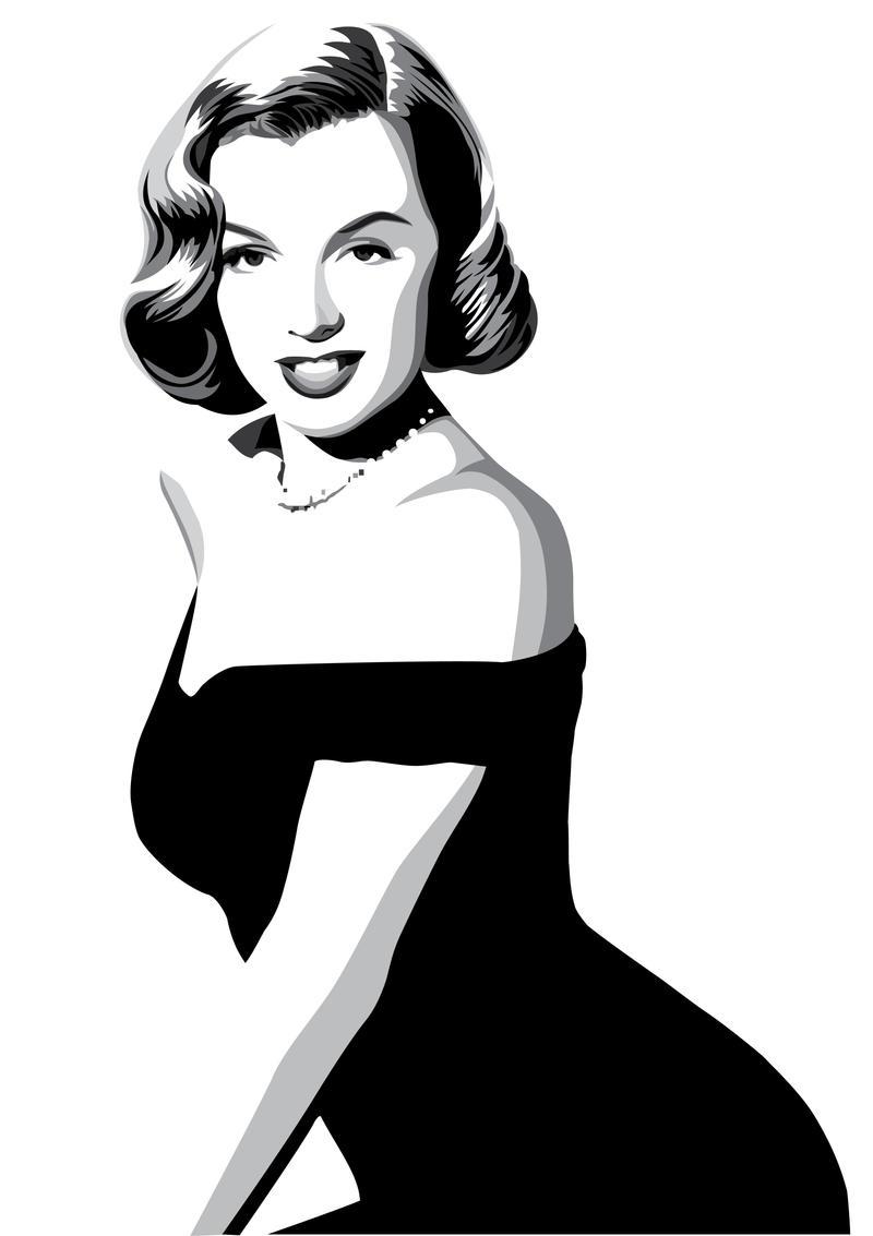 Marilyn Monroe by pin-n-needles