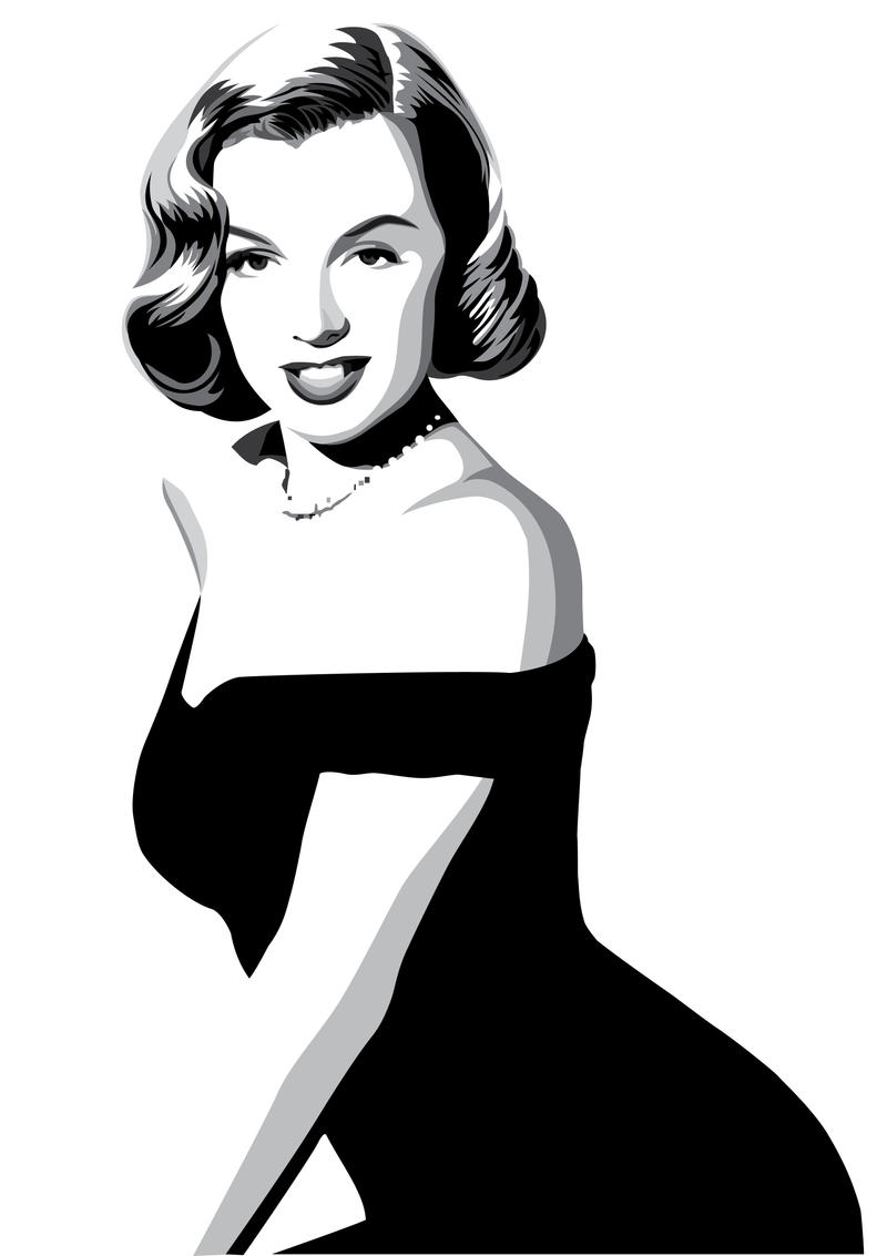 Marilyn Monroe by pin-n-needles on DeviantArt