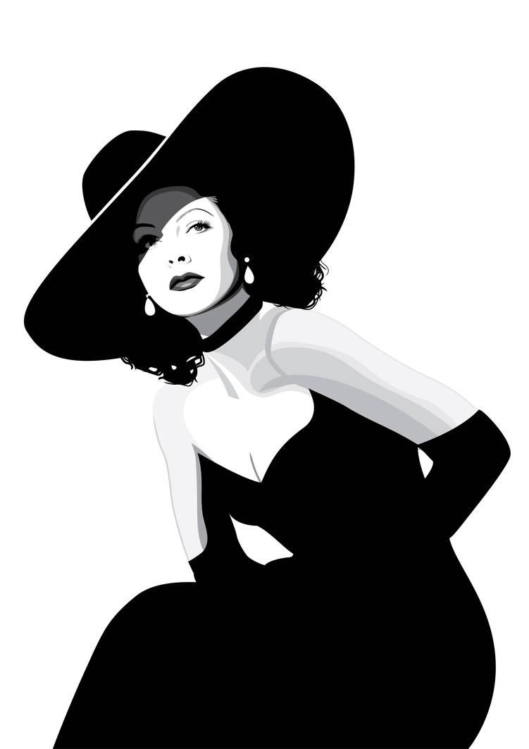 Hedy Lamarr by pin-n-needles
