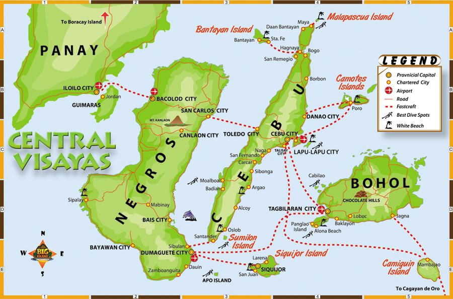 Central Visayas Map by xed83 on DeviantArt