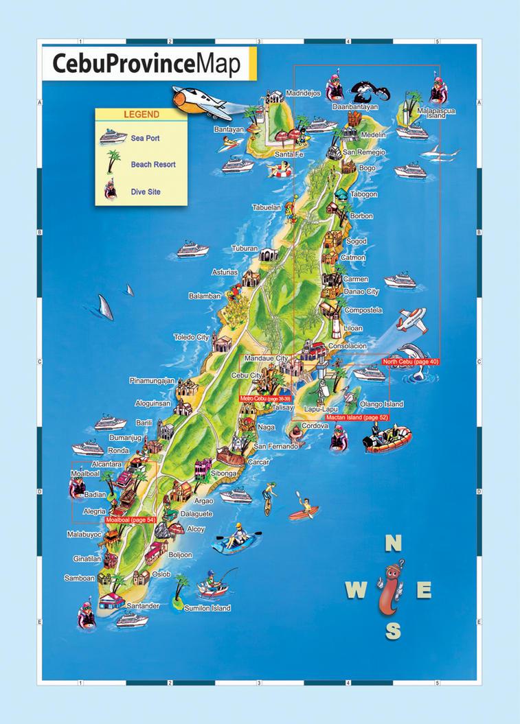 Cebu Province Map by xed83 on DeviantArt