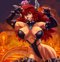 Supercrown Bowsette by dmaxcustom
