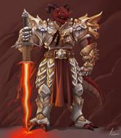 DnD Dragonborn Paladin by dmaxcustom