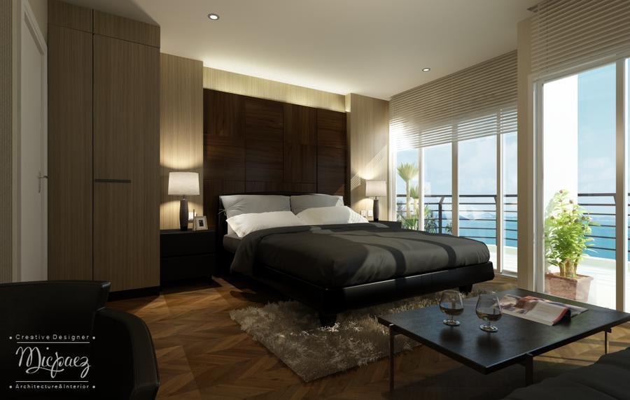 Interior bedroom condo banphe by kapaopae on deviantart for Condo bedroom design