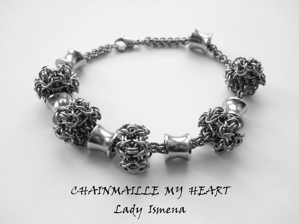 pandora like surgical steel chainmaille bracelet by ladyis