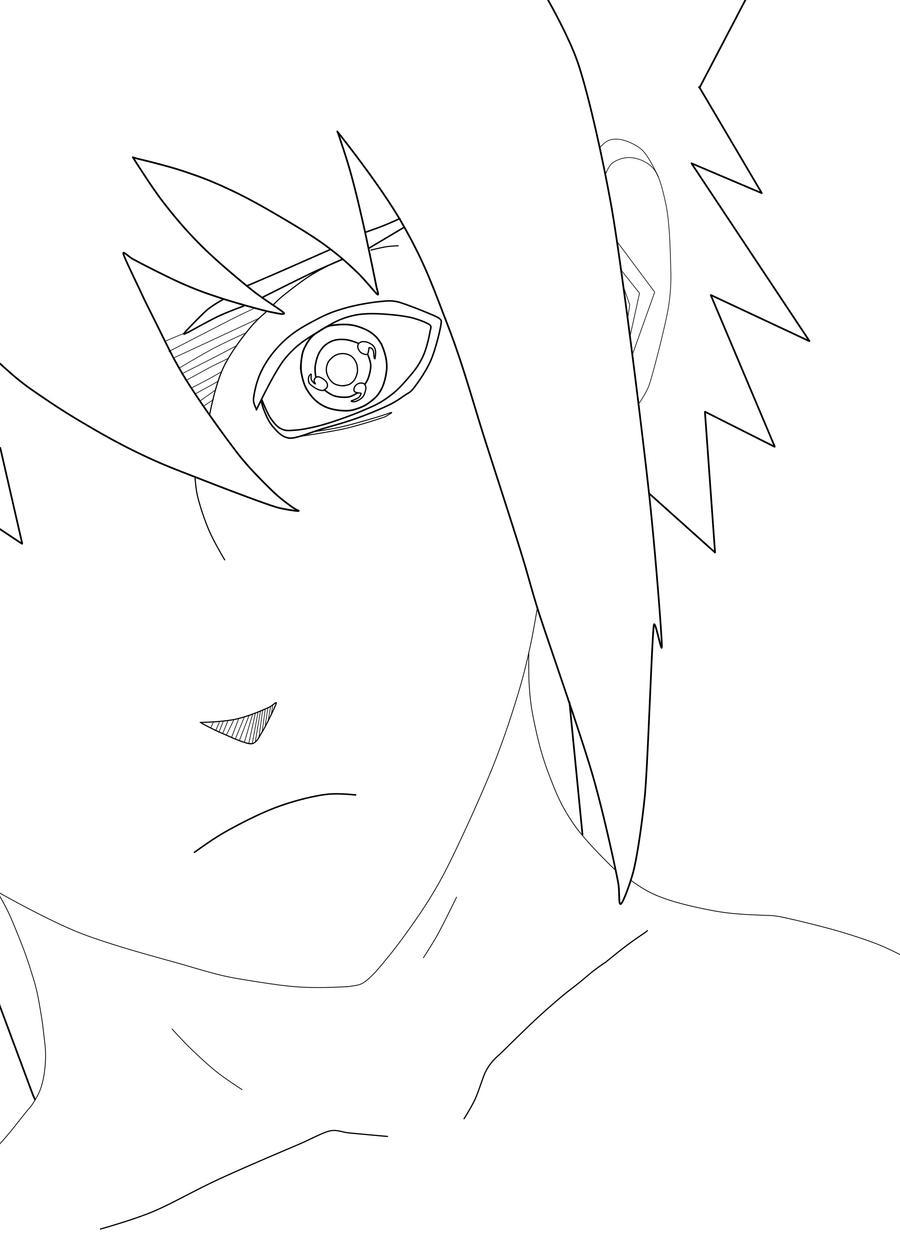 Sasuke Lineart : Sasuke uchiha lineart by maludesigns on deviantart