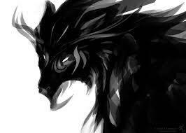 shadow wolf i drew by oreoismybae