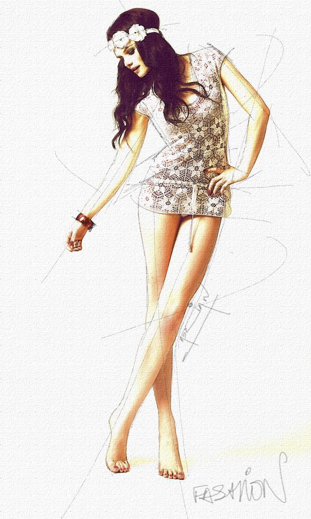 Hayley Fashion Drawing By Adideweyphotography