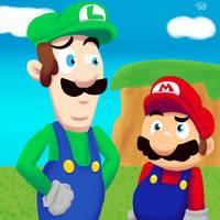Mario and Luigi by MrBda241