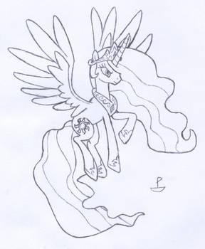 Celestia's Epic Pose