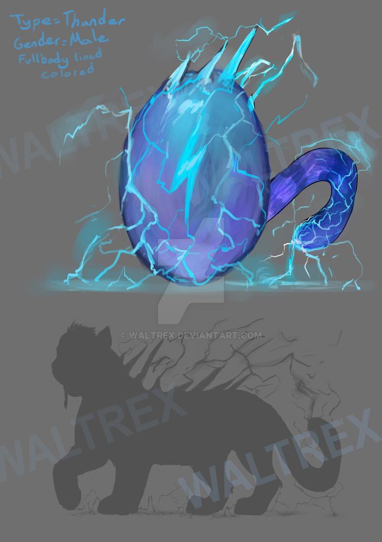 Thunder egg (CLOSE) by waltrex
