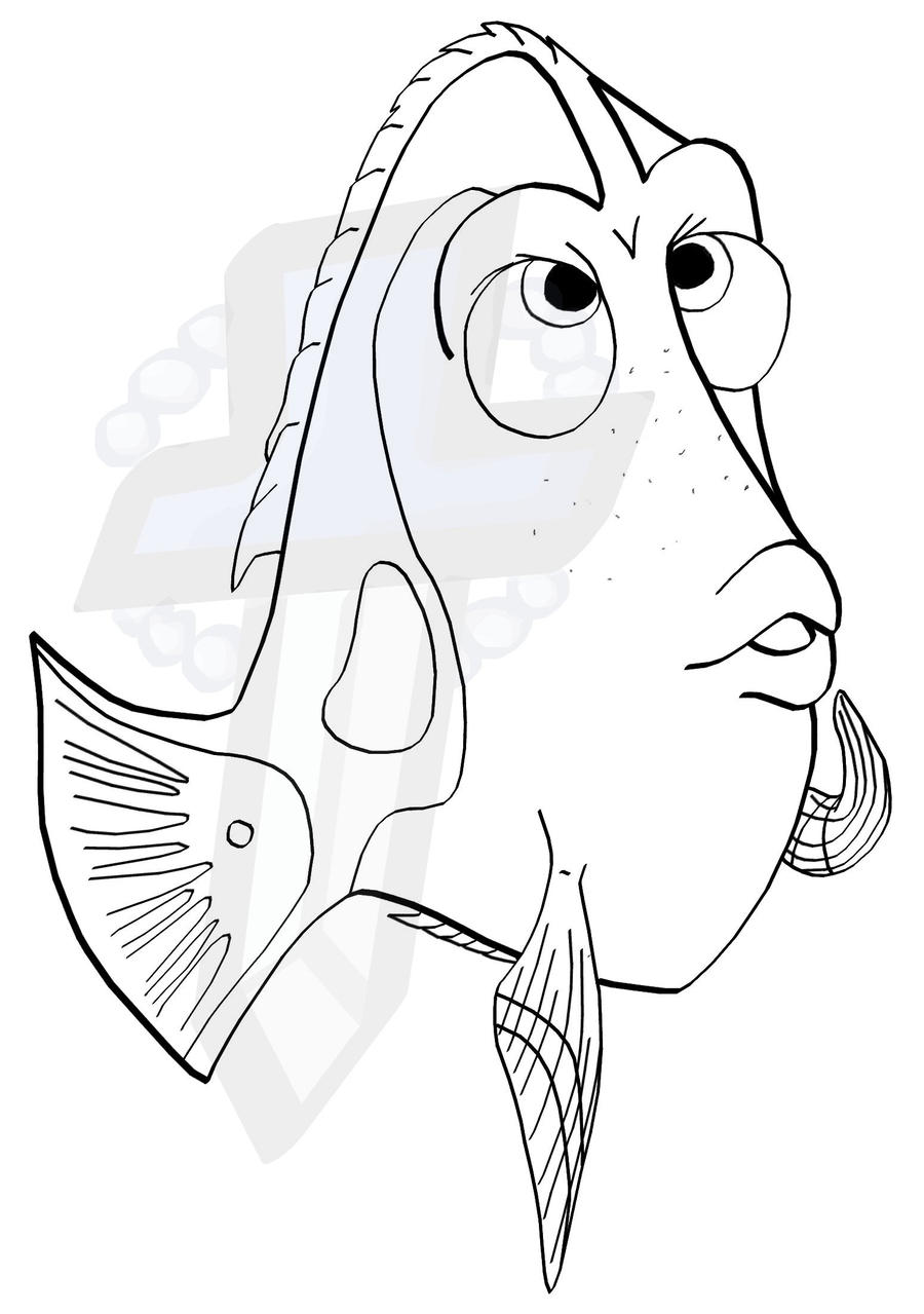 dory coloring page by Areonn on DeviantArt