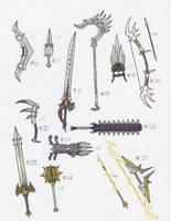 Elemental Weapons, Numbers 16-27 by Khimairi999