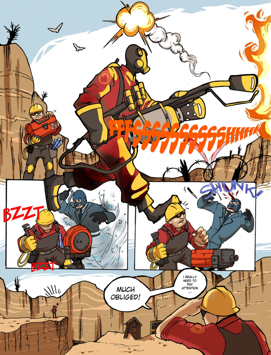 TF2: Be efficient be polite 3 by spacerocketbunny