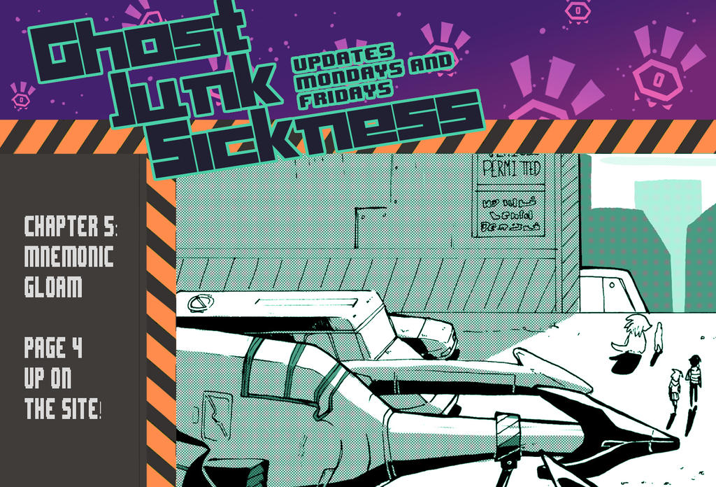 Ghost Junk Sickness: CH5--page 4 update! by spacerocketbunny