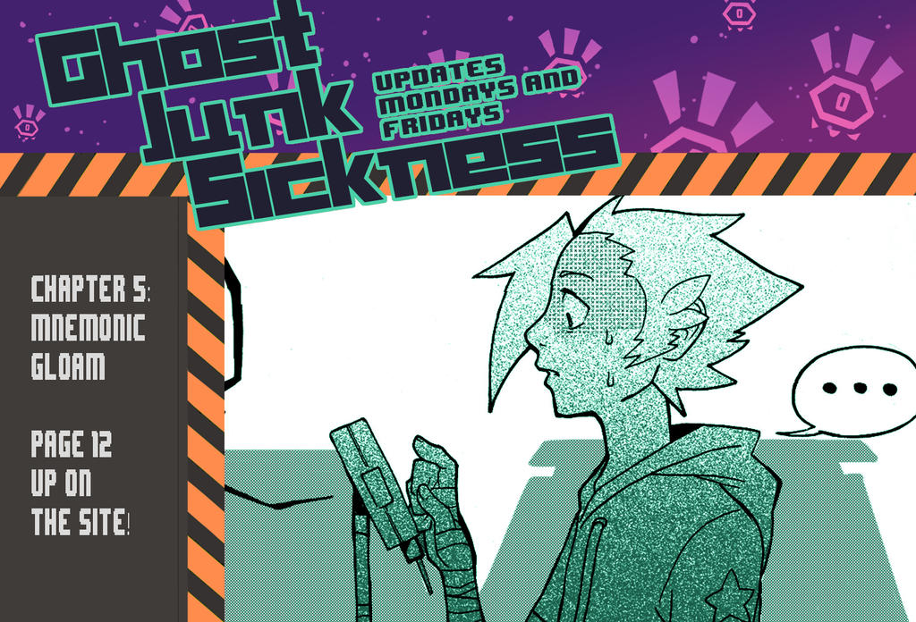 Ghost Junk Sickness: CH5--page 12 update! by spacerocketbunny