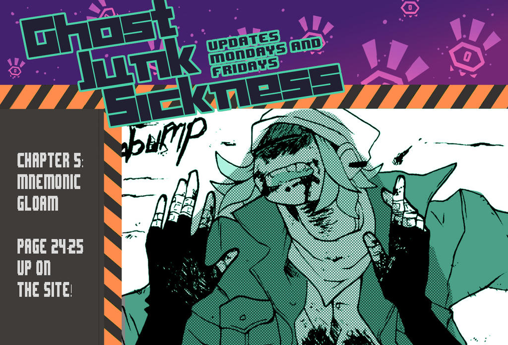 Ghost Junk Sickness: CH5--page 24+25 update! by spacerocketbunny