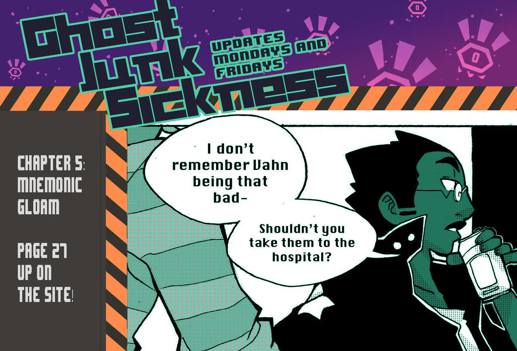 Ghost Junk Sickness: CH5--page 27 update! by spacerocketbunny